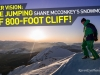 Roner Vision: 800-foot Snowmobile BASE Jump