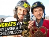 Bucky Lasek & Mitchie Brusco Podium in Skateboard Vert at X Games Barcelona