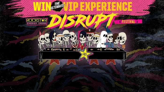 ROCKSTAR & GAMA DISRUPT SWEEPSTAKES