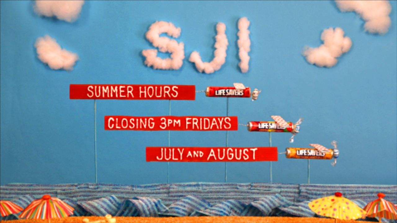 SJI will close at 3pm on Fridays during July and August.