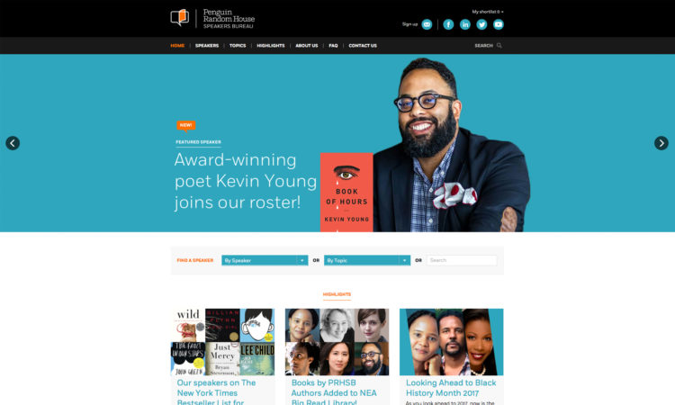 Penguin Random House Speakers Website Thumbnail