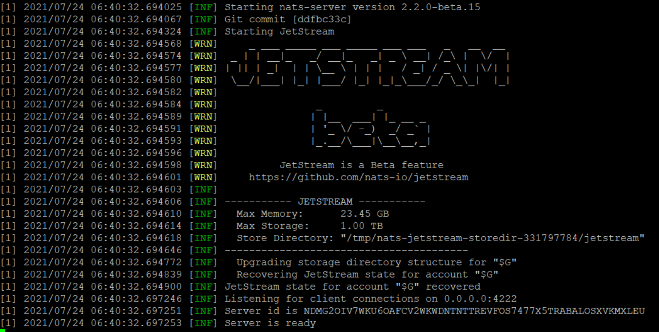 JetStream Logs
