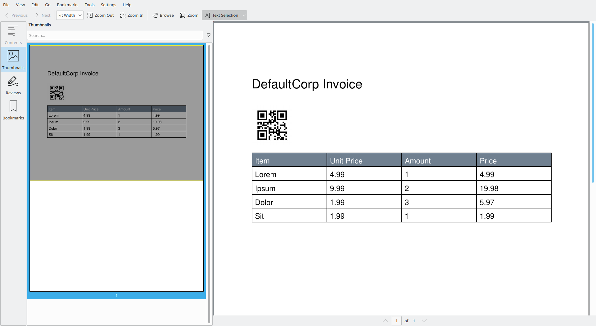 creating a corporate invoice pdf in python