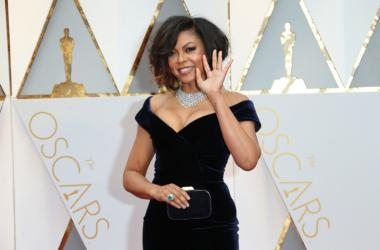 Taraji P. Henson on the red carpet during the 89th Academy Awards at Dolby Theatre.