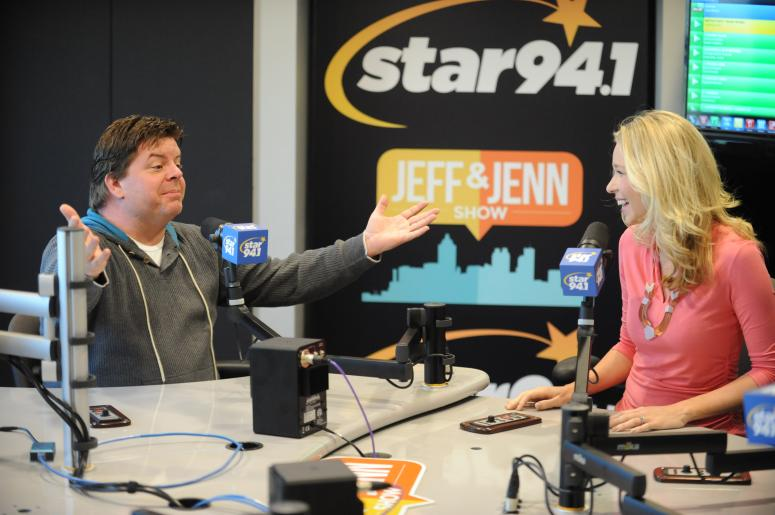 Jeff and Jenn in Studio