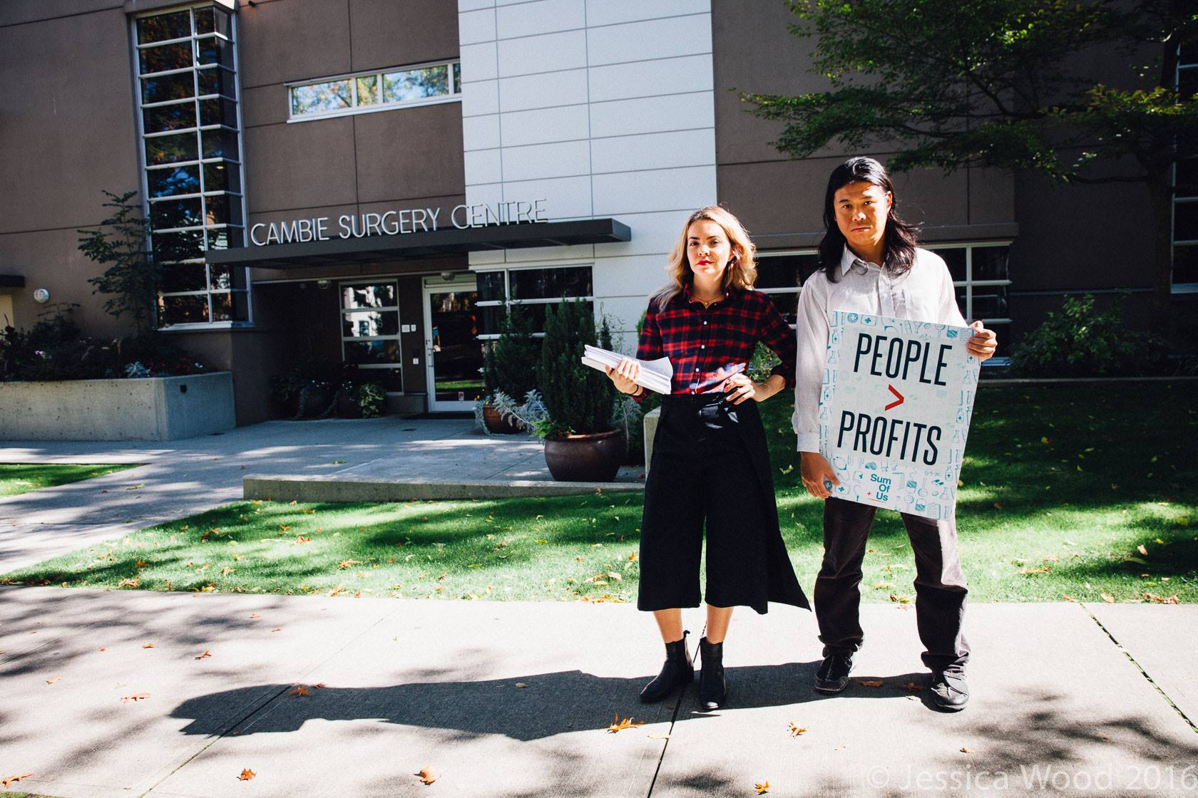 Petition Delivery to Doctor Profits liar Cambie Surgeries Corporation