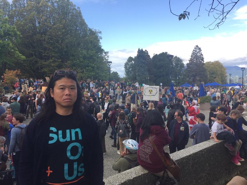 Angus at Vancouver Climate Strike