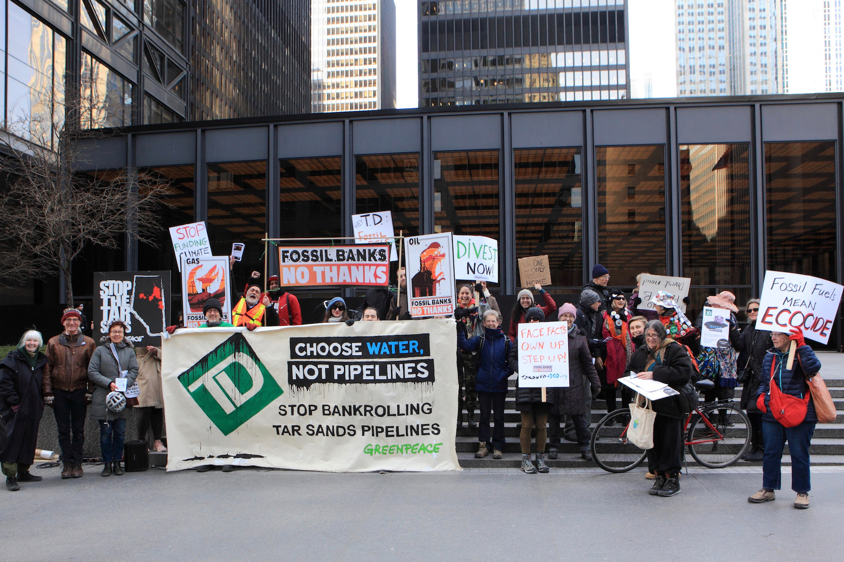 Here's a picture...  of our action outside of TD's investors meeting