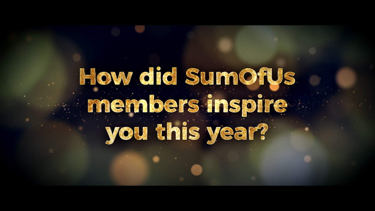 Video - Thank you message, and quick review of the year at SumOfUs