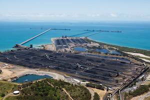Coal port near the Great Barrier Reef