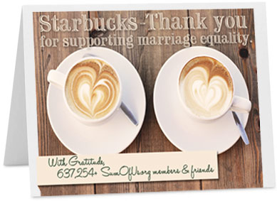 Starbucks Thank You card
