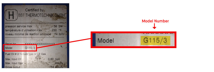 What is Buderus Model Number