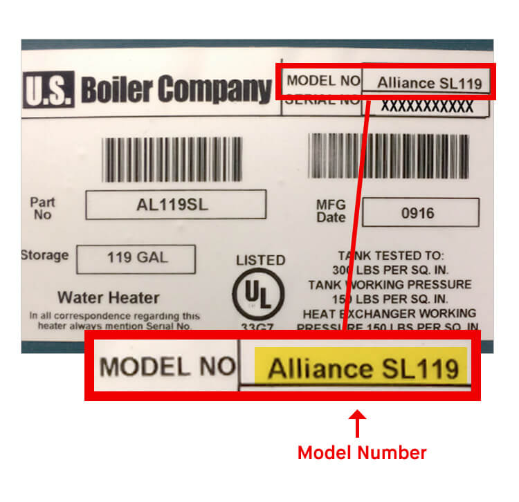 What is Burnham Indirect Water Heater Model Number