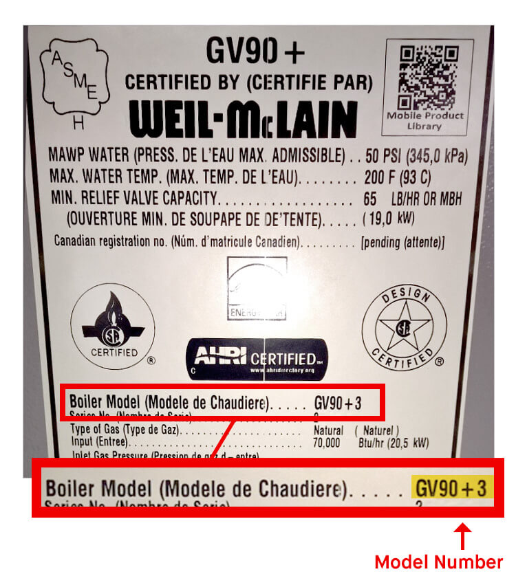 What is Weil Mclain Model Number