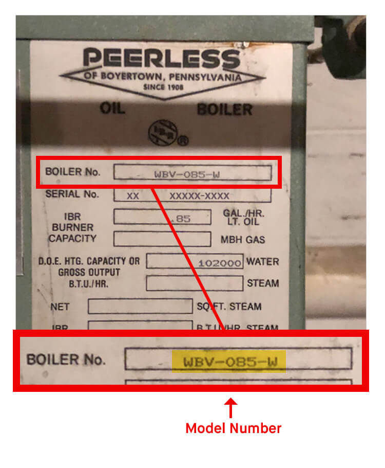 What is Peerless Model Number