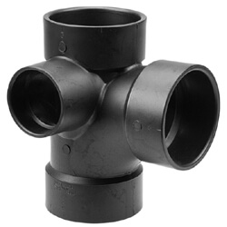 ABS DWV Sanitary Tees with 90° Inlet (Hub)