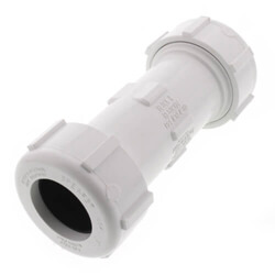 PVC Sch 40 White Compression Couplings