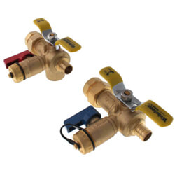PEX Crimp Tankless Water Heater Isolation Valves
