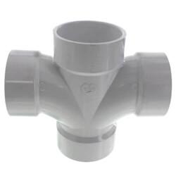 PVC DWV Double Sanitary Tees (All Hub)