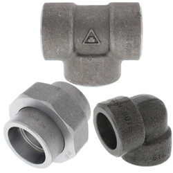 All Forged Carbon Steel Socket Weld Fittings (3000 lb)