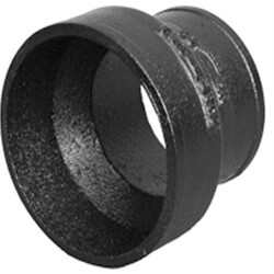 "4"" x 3"" Imported No Hub Cast Iron Short Pipe Reducer Product Image"