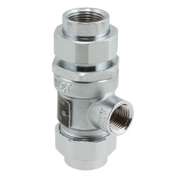 "3/4"" 9D-SC-M2 Dual Check Valve w/ Intermediate Atmospheric Vent (Satin Chrome) Product Image"