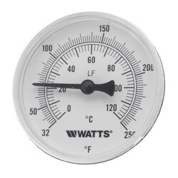 """LFTB-2-1/2-232-248 Center Back Entry Bimetal Therm. (2-1/2"""" Dial) Product Image"""