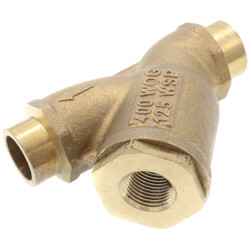 "1/2"" LFS777S Bronze Wye Strainer, Lead Free (Solder) Product Image"