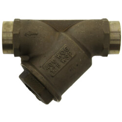 "1"" LFS777SM1 Bronze Wye Strainer w/ Tapped Retainer Cap, Lead Free Product Image"
