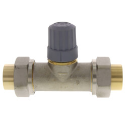 "3/4"" Straight Thermostatic Radiator Valve, Double Solder Union Product Image"