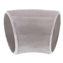 """1/2"""" Sch 10 Stainless<br>Steel Butt-Weld 45°<br>Long Radius Elbow Product Image"""