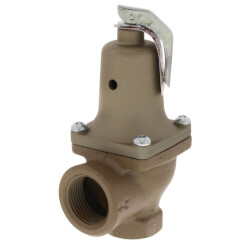 "3/4"" x 1"" Boiler Pressure Relief Valve (30 psi) Product Image"