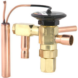 """3/8"""" x 1/2"""" ODF SCE-AA-JW Thermal Expansion Valve (1/6 to 1/4 Tons) Product Image"""