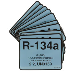 R-134A Color Coded Refrigerant ID Label (Pack of 10) Product Image
