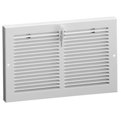 "10"" x 6"" (Wall Opening) Steel Baseboard Register with Plate Damper (654 Series) Product Image"
