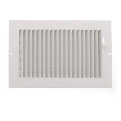 "10"" x 6"" White One-Way Steel Sidewall/Ceiling Register (681 Series) Product Image"