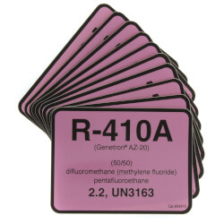 R-410A Cylinder Tank Label (Pack of 10) Product Image