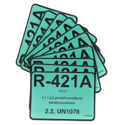 R-421A Refrigerant ID Labels (Pack of 10) Product Image