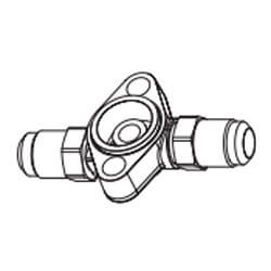 """5/8"""" x 7/8"""" ODF TCL/TCLE-Series Straight-Thru Flange Product Image"""