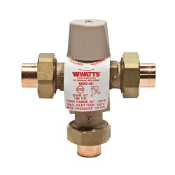 """1/2"""" LFMMVM1-US Lead Free Mixing Valve (Sweat) Product Image"""