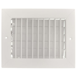 """8"""" x 6"""" (Wall Opening Size) Satin Anodized Sidewall Aluminum Register w/ MS Damper (VM Series) Product Image"""