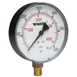 "LFDPG1 2-1/2"" Bottom Entry Pressure Gauge Lead Free (0-15 psi) Product Image"