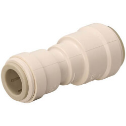 """Polysulfone Quick-Connect Reducing Union Connector 3/4"""" CTS x 1/2"""" CTS Product Image"""