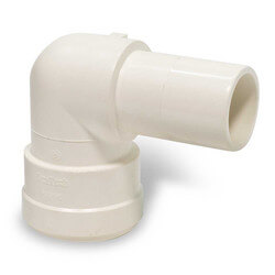 """Polysulfone Quick-Connect Stackable 90° Elbow, 1"""" CTS x 1"""" OD Product Image"""