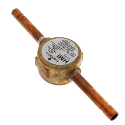 "1/4"" ODF Hermetic Sight Glass Moisture Indicator Product Image"