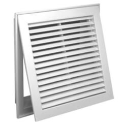 """12"""" x 12"""" (Wall Opening Size) White Steel Fixed-Bar Filter Grille (96AFB Series) Product Image"""