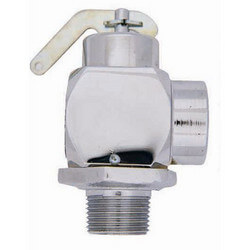 "3/4"" MNPT x 3/4"" FNPT RVS32 625 LBS/HR Safety Relief Valve, Polished Chrome (50 psi) Product Image"