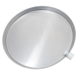 "28"" Aluminum Water Heater Drain Pan w/ Fitting Product Image"