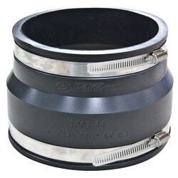 "4"" x 4"" Flexible Coupling (Clay to Asbestos Cement Fibre or Ductile Iron) Product Image"
