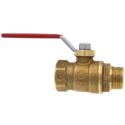 "T-900NL 3/4"" Forged Brass Ball Valve w/ Lever Handle, Lead Free (MNPT x FNPT) Product Image"